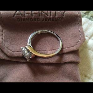 Jewelry - 1/2 carat diamond ring size 9 14K rose white gold